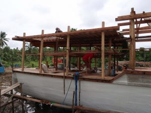 Philippines Liveaboard framing for substructure