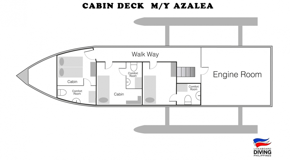 Cabin Deck M/Y Azalea
